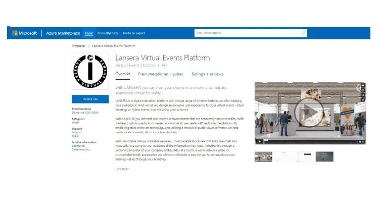 Svensk startup levererar första fullskaliga eventplattformen på Microsoft Marketplace