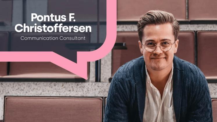 Mynewsdesk kan stolt presentera Pontus F. Christoffersen